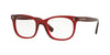 Valentino VA3010 Rectangle Eyeglasses  5115-TRANSPARENT BORDEAUX 52-20-140 - Color Map bordeaux