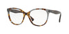 Valentino VA3014 Square Eyeglasses  5059-HAVANA INSERTS TRASPARENT GREY 53-17-140 - Color Map grey