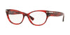 Valentino VA3020 Oval Eyeglasses  5020-RED HAVANA 54-17-140 - Color Map red