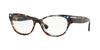 Valentino VA3020 Oval Eyeglasses  5068-HAVANA BLUE 54-17-140 - Color Map blue