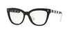 Valentino VA3025 Cat Eye Eyeglasses  5001-BLACK 53-17-140 - Color Map black