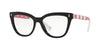 Valentino VA3025 Cat Eye Eyeglasses  5080-BLACK 53-17-140 - Color Map black