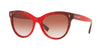 Valentino VA4013A Cat Eye Sunglasses  503313-MURBLE RED GRADIENT BLACK 54-18-140 - Color Map red