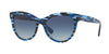 Valentino VA4013A Cat Eye Sunglasses  50384L-STRIPPED BLUE HAVANA 54-18-140 - Color Map blue