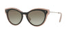 Valentino VA4017 Oval Sunglasses  50528E-TOP BLACK/PINK/TRASPARENT PINK 51-18-140 - Color Map black