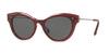 Valentino VA4017 Oval Sunglasses  505387-TOP BURGUNDY/GRADIENT RED 51-18-140 - Color Map bordeaux