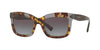 Valentino VA4024A Rectangle Sunglasses  50598G-HAVANA INSERTS TRASPARENT GREY 52-19-140 - Color Map grey