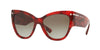Valentino VA4028 Cat Eye Sunglasses  50208E-HAVANA RED 55-17-140 - Color Map red