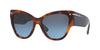 Valentino VA4028 Cat Eye Sunglasses  51358G-HAVANA 55-17-140 - Color Map havana