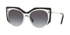 Valentino VA4033 Irregular Sunglasses  50828G-CRYSTAL/BLACK 53-18-140 - Color Map black