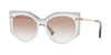 Valentino VA4033 Irregular Sunglasses  508313-CRYSTAL/TRASPARENT GREY 53-18-140 - Color Map grey