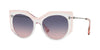 Valentino VA4033 Irregular Sunglasses  5084I6-CRYSTAL/TRASPARENT PINK 53-18-140 - Color Map pink