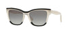 Valentino VA4036 Rectangle Sunglasses  509111-BLACK/IVORY/BLACK 54-18-140 - Color Map white