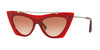 Valentino VA4041 Cat Eye Sunglasses  507813-OPAL PINK 53-16-140 - Color Map red