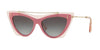 Valentino VA4041 Cat Eye Sunglasses  51078G-TRANSPARENT PINK/PINK SHOCK 53-16-140 - Color Map pink