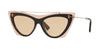 Valentino VA4041 Cat Eye Sunglasses  511173-POUDRE/BLACK 53-16-140 - Color Map light brown