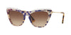 Valentino VA4043 Cat Eye Sunglasses  510413-SINGER BLUE/HAVANA 52-19-140 - Color Map blue
