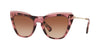 Valentino VA4043 Cat Eye Sunglasses  510513-TRANSPARENT PINK/HAVANA PINK 52-19-140 - Color Map pink