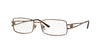 Versace VE1092B Rectangle Eyeglasses  1045-LIGHT BROWN 53-16-130 - Color Map brown