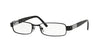 Versace VE1121 Rectangle Eyeglasses  1009-BLACK 53-17-135 - Color Map black