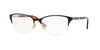 Versace VE1218 Irregular Eyeglasses  1344-BROWN/PALE GOLD 53-17-140 - Color Map brown