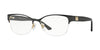 Versace VE1222 Oval Eyeglasses  1342-GOLD 53-17-140 - Color Map black