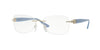 Versace VE1225B Butterfly Eyeglasses  1398-PALE GOLD 53-16-135 - Color Map gold