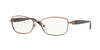Versace VE1226B Rectangle Eyeglasses  1013-COPPER 54-16-135 - Color Map light brown