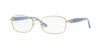 Versace VE1226B Rectangle Eyeglasses  1398-PALE GOLD 54-16-135 - Color Map gold