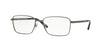 Versace VE1227 Rectangle Eyeglasses  1351-MATTE GUNMETAL 55-17-145 - Color Map gunmetal