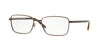Versace VE1227 Rectangle Eyeglasses  1359-MATTE BROWN 55-17-145 - Color Map brown