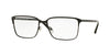 Versace VE1232 Rectangle Eyeglasses  1261-MATTE BLACK 54-16-140 - Color Map black