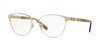 Versace VE1238 Phantos Eyeglasses  1339-BRUSHED PALE GOLD 52-16-140 - Color Map gold