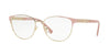 Versace VE1238 Phantos Eyeglasses  1385-PALE GOLD 52-16-140 - Color Map gold