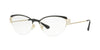 Versace VE1239B Cat Eye Eyeglasses  1291-BLACK/PALE GOLD 53-17-140 - Color Map gold