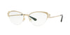 Versace VE1239B Cat Eye Eyeglasses  1339-BRUSHED PALE GOLD 53-17-140 - Color Map gold