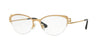 Versace VE1239B Cat Eye Eyeglasses  1352-BRUSHED GOLD 53-17-140 - Color Map gold