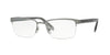 Versace VE1241 Rectangle Eyeglasses  1264-ANTHRACITE 54-18-145 - Color Map gunmetal