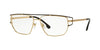 Versace VE1257 Irregular Eyeglasses  1436-GOLD 55-15-140 - Color Map gold