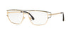 Versace VE1257 Irregular Eyeglasses  1458-GOLD 55-15-140 - Color Map gold