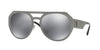 Versace VE2175 Round Sunglasses  10016G-GUNMETAL 60-17-140 - Color Map gunmetal