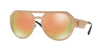 Versace VE2175 Round Sunglasses  13954Z-PINK COPPER 60-17-140 - Color Map bronze/copper