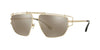 Versace VE2202 Irregular Sunglasses  12525A-PALE GOLD 57-14-140 - Color Map gold