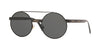 Versace VE2210 Round Sunglasses  100987-BLACK 52-21-140 - Color Map black