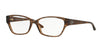 Versace VE3172 Butterfly Eyeglasses  991-LIZARD BROWN 54-16-135 - Color Map brown