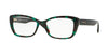 Versace VE3201 Rectangle Eyeglasses  5076-GREEN HAVANA 54-16-140 - Color Map green