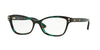 Versace VE3208 Butterfly Eyeglasses  5076-GREEN HAVANA 54-16-140 - Color Map green