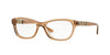 Versace VE3212B Irregular Eyeglasses  617-TRANSPARENT BROWN 52-16-140 - Color Map brown