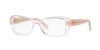 Versace VE3228 Rectangle Eyeglasses  5189-TRANSPARENT PINK 52-16-140 - Color Map pink