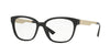 Versace VE3240 Square Eyeglasses  GB1-BLACK 52-16-140 - Color Map black